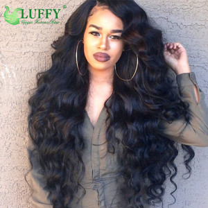 100% Virgin Human Hair Deep Wave Full Lace Wigs With Baby Hair - FLW001