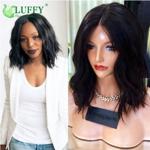 100% Virgin Brazilian Human Hair Bob Full Lace Wigs Human Hair Lace Front Wig With Baby Hair  - BOB005