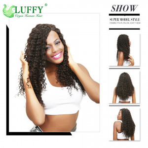8A Grade High Quality  100% Virgin Hair Deep Wave Hair Wigs Human Hair Wig For Women With Baby Hair - WS005
