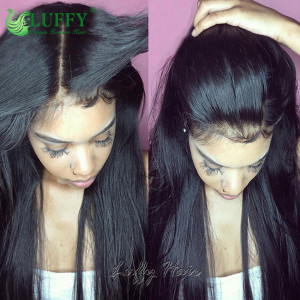 2021 New Arravial Silky Straight Full Lace Wigs 100% Unprocessed Brazilian Virgin Hair 13x6  Lace Front Human Wigs For Black Women - STW012