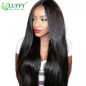 "10A Grade 180% Density 13"" x 6"" Glueless Lace Front Wig Unprocessed Brazilian Virgin Hair Wigs With Baby Hair -STW011"