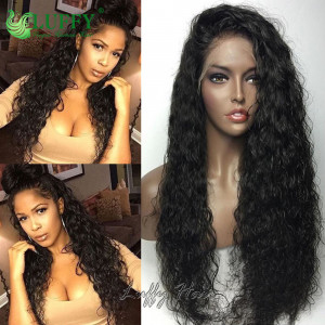 Pre Plucked 11A Grade 100% Virgin Hair 180% Density Natural Wave Full Lace Wig Glueless Peruvian Full Lace Human Hair Wigs For Black Women- FLW016