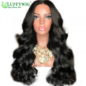 Luffy 150% Density Loose Wave 13x6 Lace Front Human Hair Wigs Pre Plucked Hairline with Baby Hair Brazilian Non Remy Hair - FLW007