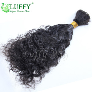 8A Brazilian Virgin Human Hair Curly Braiding Hair Bulks - HB001