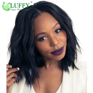 "9A Brazilian Virgin Human Hair 8""-14"" Short Natural Wave Wig - LW003"