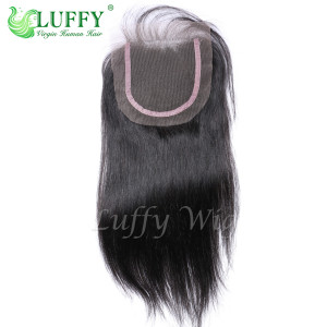 9A Brazilian Virgin Human Hair 4x4 Silky Straight Lace Closure - LC003