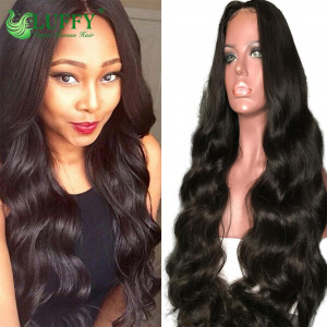 Deep Parting 13*6 Lace Front Wigs 130%-200%  Density Wave Pre Plucked Hairline 100% Virgin Human Hair Wig With Baby Hair - KLW002