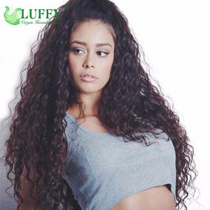 8A Brazilian Virgin Human Hair Curly U Part Wig - UWAL005