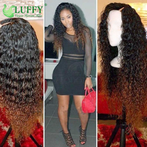 "12""200% density Pre Plucked Hairline 11A #1B/#30 Kinky Curly Full Lace Wigs Virgin Brazilian Human Hair Lace Front Wigs For Black Women - OMB014"