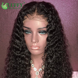 Luffy Curly Lace Front Human Hair Wigs For Women Brazilian Remy Hair Glueless Lace Wig Pre-Plucked With Baby Hair - WL016
