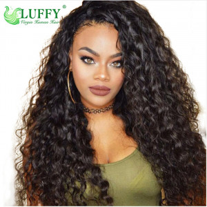 Brazilian Water Wave Lace Front Human Hair Wigs Front Lace Wigs With Baby Hair Pre Plucked Natural Hairline 150% - WL015