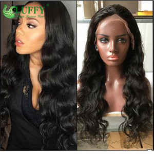 Luffy Pre Plucked 9A Grade 100% Virgin Hair Deep Wave Lace Front Wig Glueless Brazilian 16-30'' Lace Front Human Hair Wigs With Baby Hair- MJ016