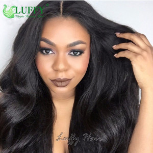 8A Brazilian Virgin Human Hair Body Wave U Part Wig - UWAL002