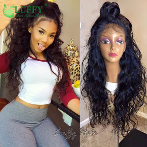 2020 Hot Sale 9A Grade 100% Virgin Hair 150%-200% Density natural wave Full Lace Wig Glueless Brazilian Full Lace Human Hair Wigs with Baby Hair - FLW014