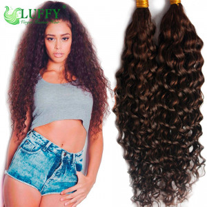 8A Brazilian Virgin Human Hair Curly Braiding Hair Bulks - HB007