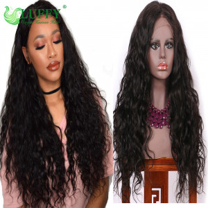 LUFFY Wig Natural Wave Pre Plucked Hairline Glueless Full Lace Human Hair Wigs For Black Women Brazilian Virgin Hair 130%-200% Density Full Lace Wig- KLW010