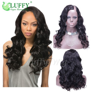 8A Brazilian Virgin Human Hair Body Wave U Part Wig - UW005