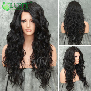 8A Brazilian Virgin Human Hair Long Natural Wave Wig - LW012