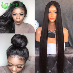 8A Peruvian Virgin Human Hair Silky Straight Wig - LWAL002