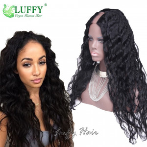 8A Brazilian Virgin Human Hair Natural Wave U Part Wig - UWAL001