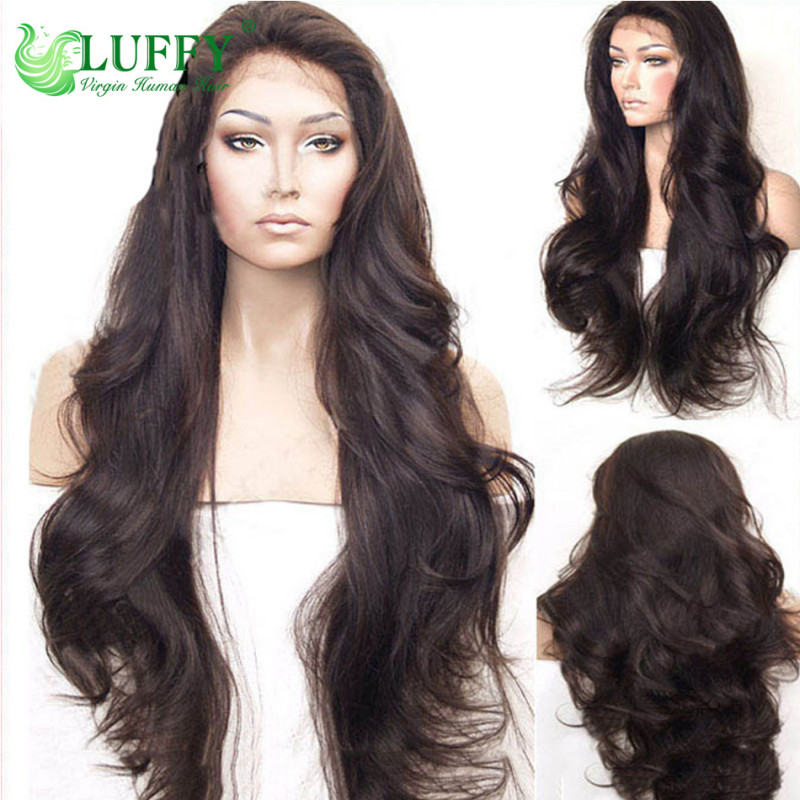 11A Unprocessed Peruvian Full Lace Wig With Baby Hair Wavy Glueless Lace Front Human Hair Wigs For Black Women - FLW004