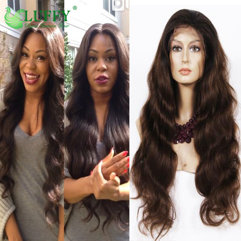 100% Virgin Brazilian Full Lace Front Wigs With Baby Hair Glueless Lace Front Human Hair Wigs - FLW006