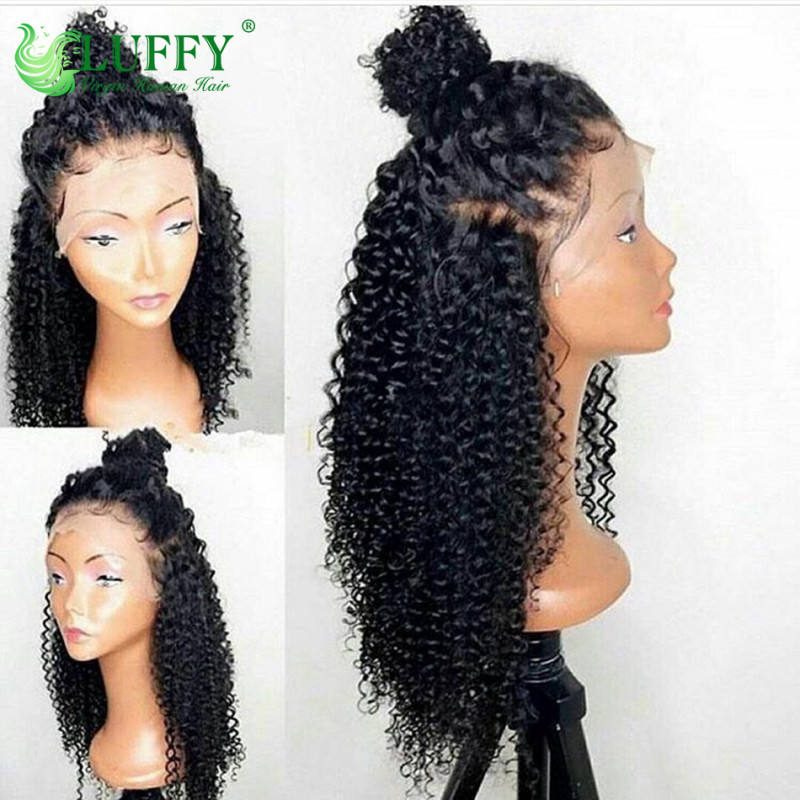 0d833adc53c 10A 150 Density Kinky Curly Lace Front Human Hair Wigs For Black Women 13x6 Brazilian  Virgin