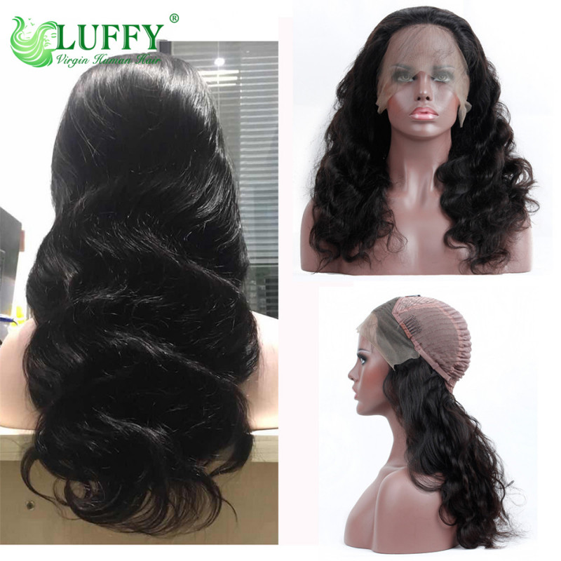 13*6 Lace Front Human Hair Wigs For Women Brazilian Body Wave Lace Frontal Wig Pre Plucked With Baby Hair Remy Hair Natural Color - WLJ010
