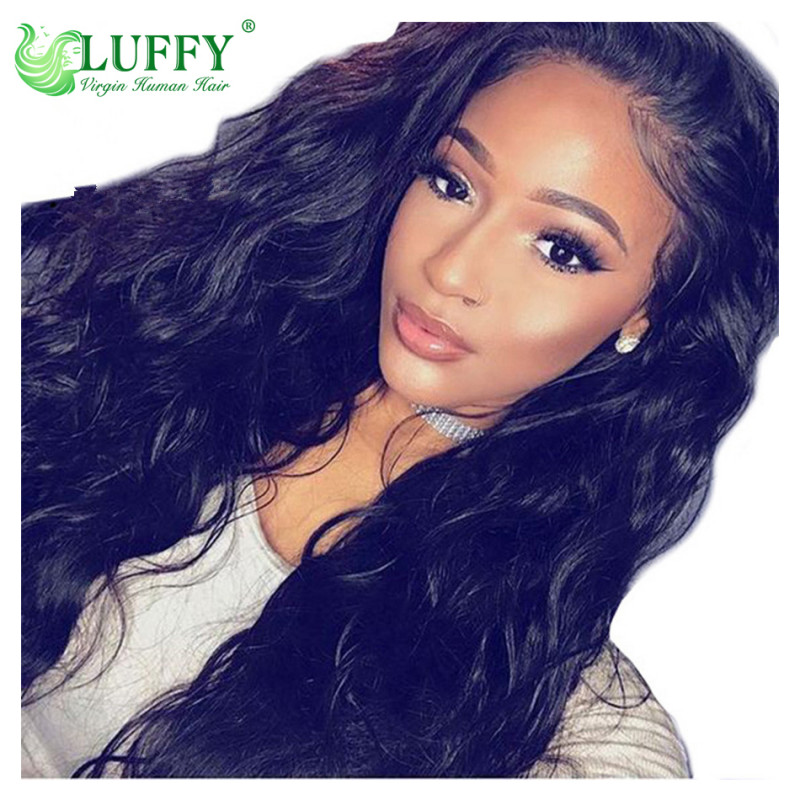 Body Wave Lace Front Human Hair Wigs For Women Pre Plucked Brazilian Remy Hair Wigs 13*6 Bleached Knots Baby Hair - WLJ007