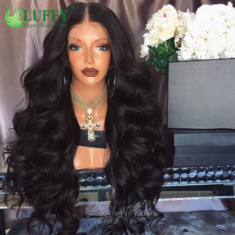 Wet Wavy Brazilian Full Lace Human Hair Wigs For Black Women Virgin Hair Full Lace Front Wig Body Wave - LWF01