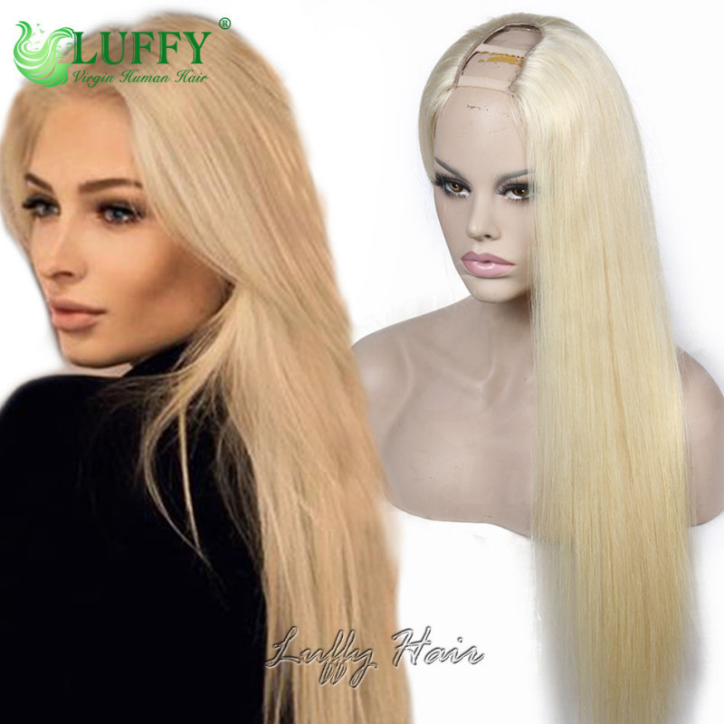 10a Brazilian Virgin Human Hair 613 Blonde Silky Straight U Part