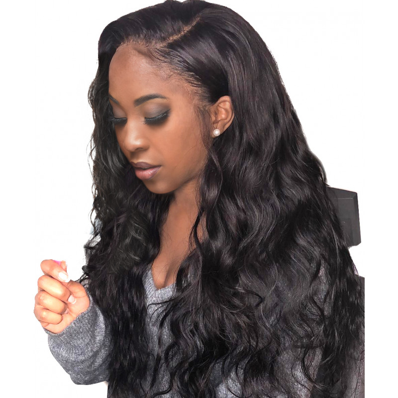 Luffy 16''-30'' 360 Lace Frontal Wigs Pre Plucked With Baby Hair Full Brazilian Body Wave Human Hair Lace Front long Wigs For Black Women - WL001