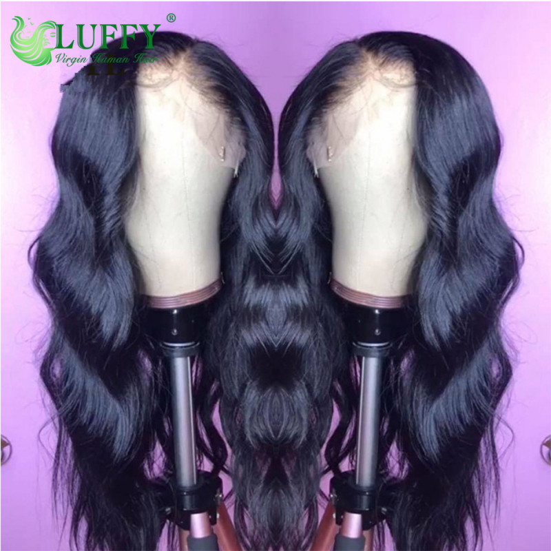 Luffy Lace Front Human Hair Wigs For Black Women With Baby Hair Brazilian Remy Hair Lace Wigs For Women Pre-Plucked Body Wave - WL020