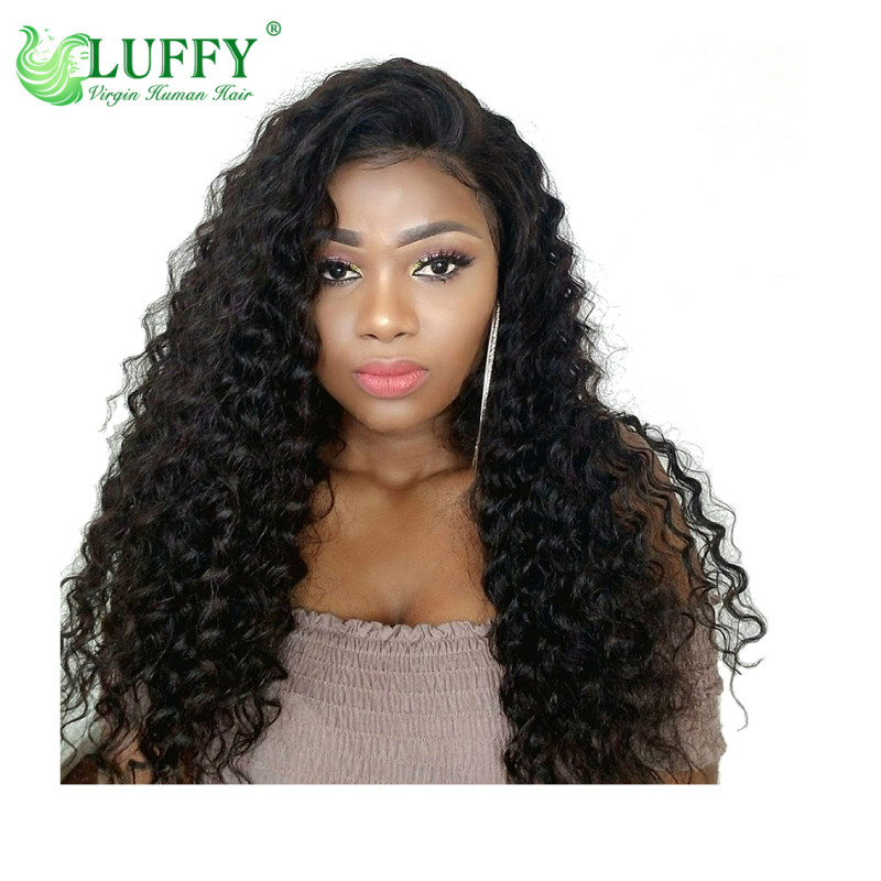 100% Virgin Brazilian Human Hair wigs&Full Lace Wig With Baby Hair Pre Plucked Hairline Bleached Knots Lace Wigs For Black Women  - KLW012